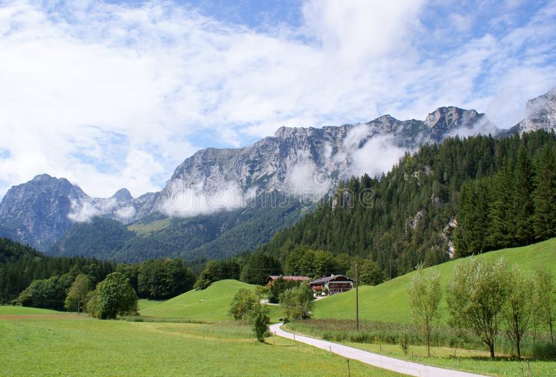 berchtesgadenerlandreiteralm arkivfoton