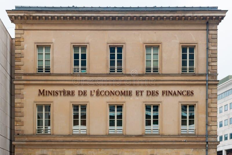 Bercy franskt departement av finansingången royaltyfri bild