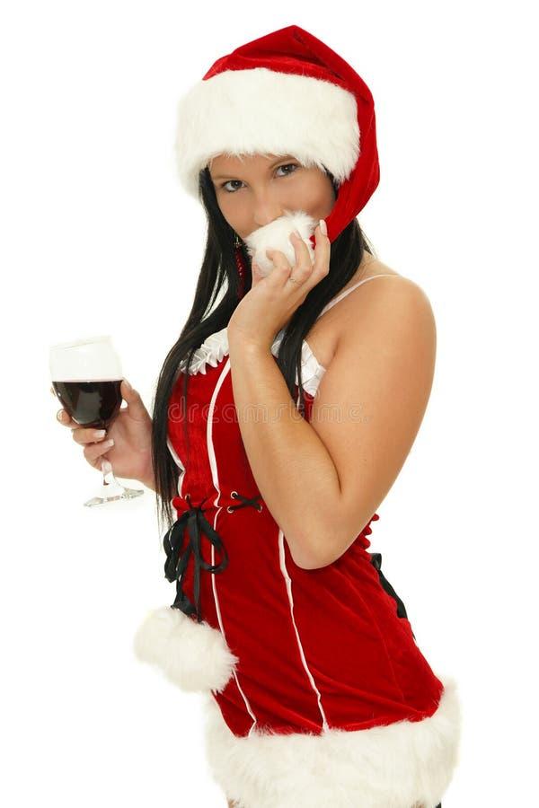 Bere della ragazza della Santa immagine stock