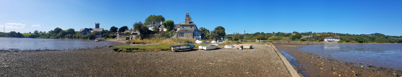 Bere Ferrers, manchmal Beerferris genannt, ist ein Dorf auf der Halbinsel Bere in Devon uk stockbilder