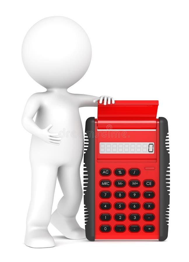 steuer taschenrechner mit rotem knopf stock abbildung. Black Bedroom Furniture Sets. Home Design Ideas