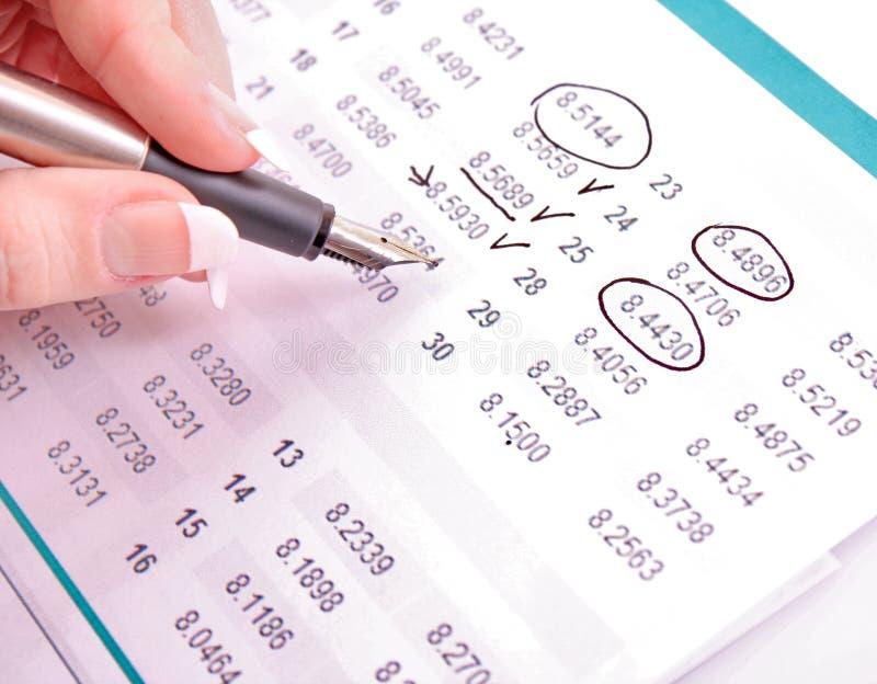 Berechnen Sie Einkommen stockfotos