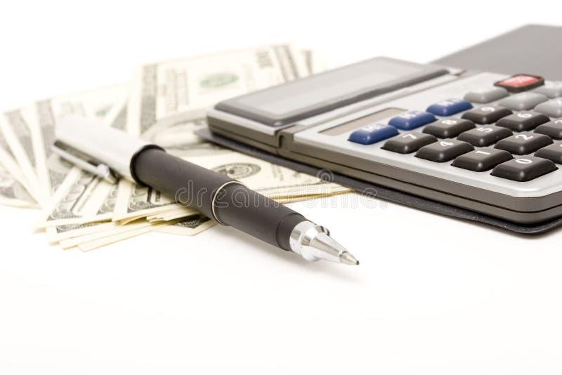 Berechnen und Finanzen lizenzfreies stockbild