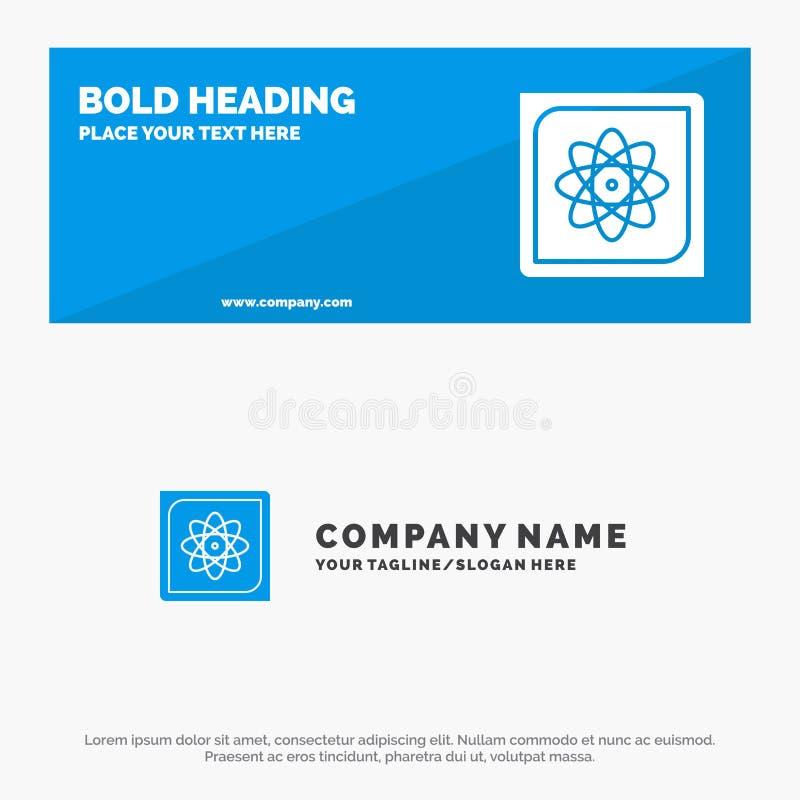 Berechnung, Computer, Datenverarbeitung, Daten, zukünftige feste Ikonen-Website-Fahne und Geschäft Logo Template lizenzfreie abbildung