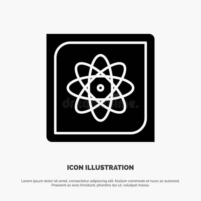 Berechnung, Computer, rechnend, Daten, zukünftiger fester Glyph-Ikonenvektor lizenzfreie abbildung