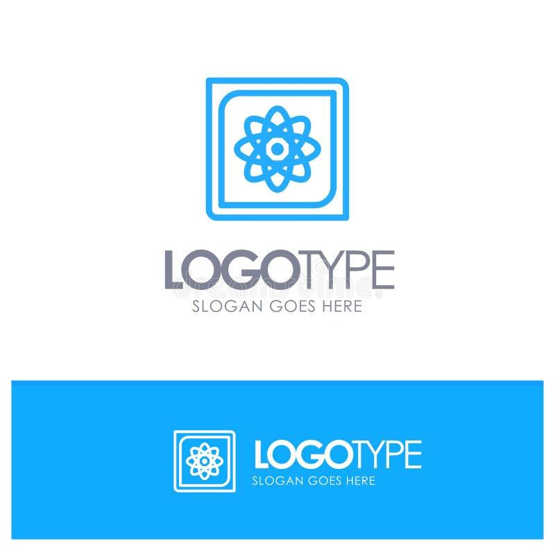 Berechnung, Computer, rechnend, Daten, zukünftiges blaues Entwurf Logo mit Platz für Tagline stock abbildung