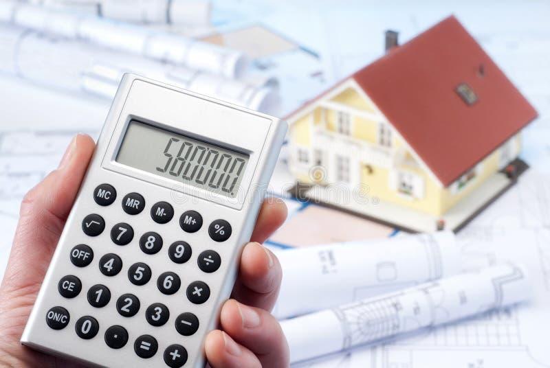 Berechnung der Baukosten lizenzfreie stockfotos
