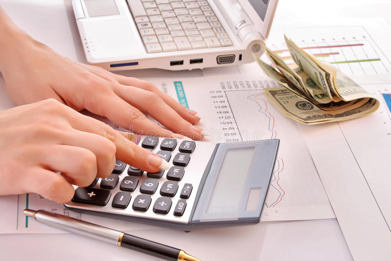 Berechnung der Finanzierung stockbilder