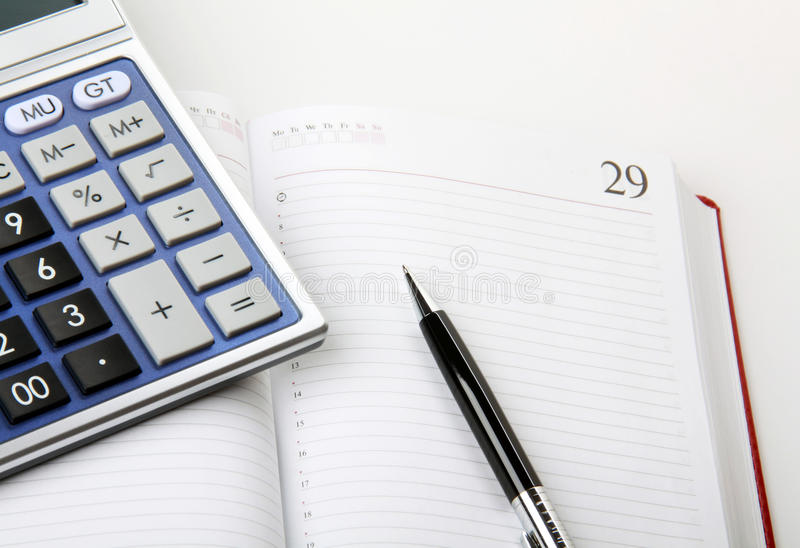 Berechnung der Finanzierung lizenzfreie stockfotos