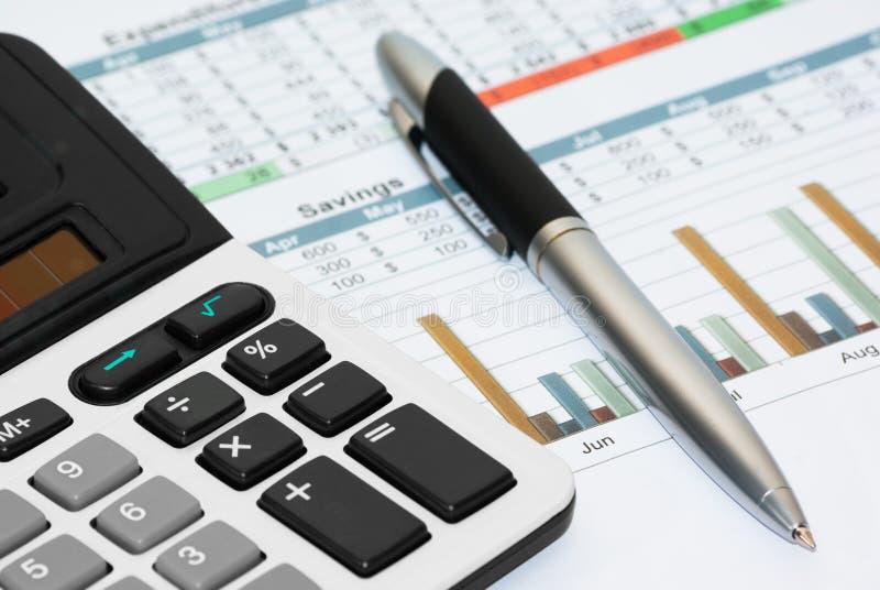 Berechnung des Hausbudgets lizenzfreies stockbild