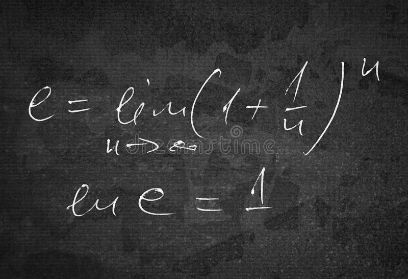Berechnung von e-Zahl stockbilder