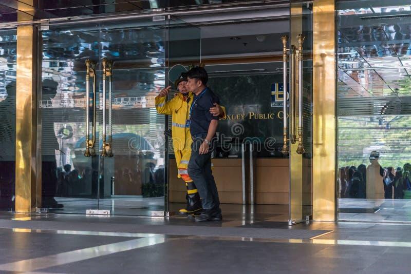 Beredskap för branddrillborr arkivfoton