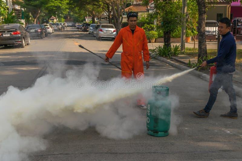 Beredskap för branddrillborr arkivbild