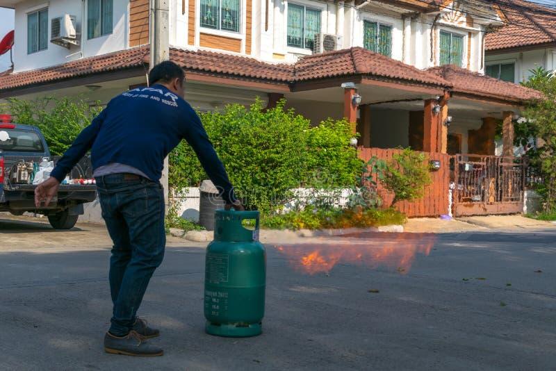 Beredskap för branddrillborr fotografering för bildbyråer