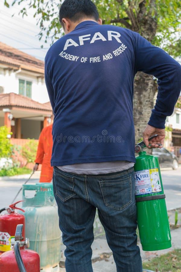 Beredskap för branddrillborr royaltyfri foto