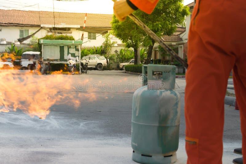 Beredskap för branddrillborr royaltyfri fotografi