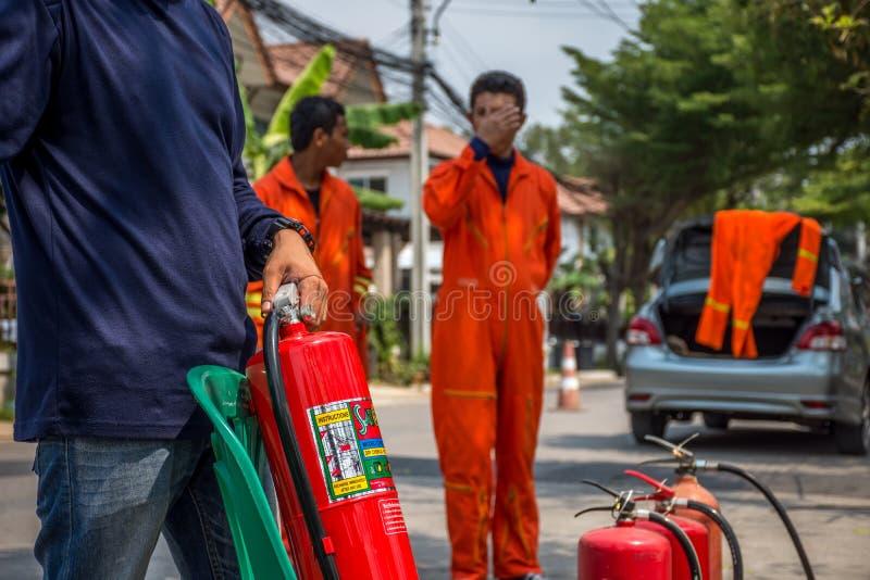 Beredskap för branddrillborr arkivbilder