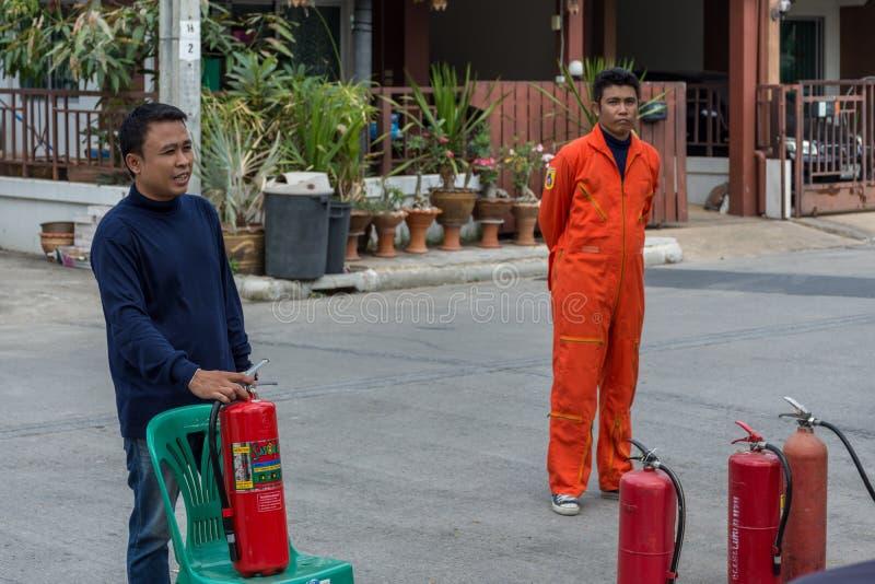 Beredskap för branddrillborr royaltyfria foton