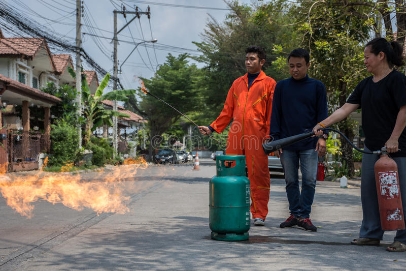 Beredskap för branddrillborr arkivfoto