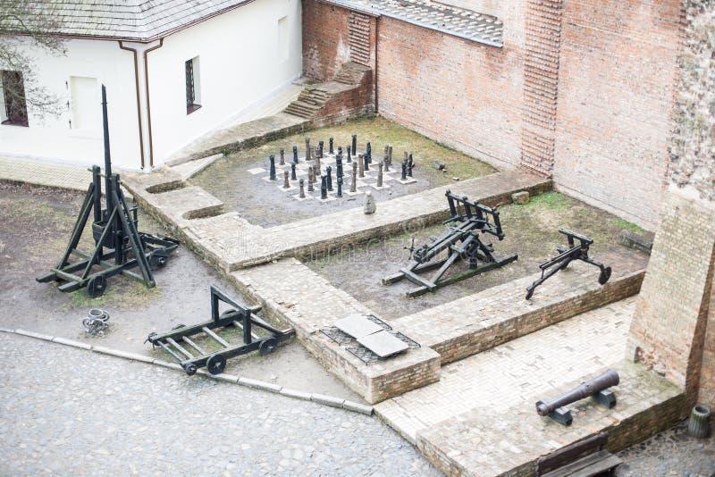 Bereich alten Lubart-Schlosses in Lutsk Ukraine lizenzfreie stockfotografie