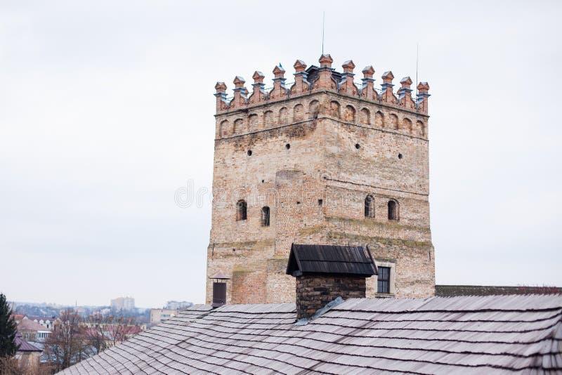 Bereich alten Lubart-Schlosses in Lutsk Ukraine lizenzfreies stockfoto