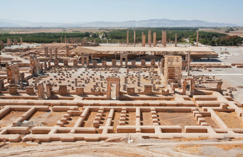 Bereich der ruinierten Stadt Persepolis lizenzfreies stockbild