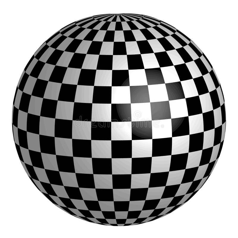 Bereich mit quadratischem Muster auf Oberfläche, Vektorschach-Planetenerde vektor abbildung