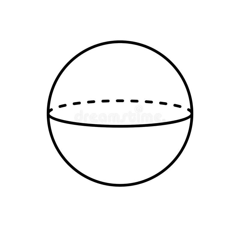 Bereich-Projektion des gestrichelten Gerade-Plakats lizenzfreie abbildung