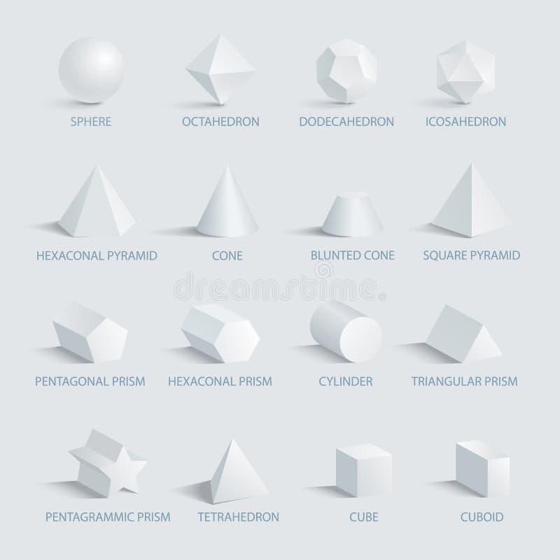 Bereich und geometrische Formen auf Vektor-Illustration vektor abbildung