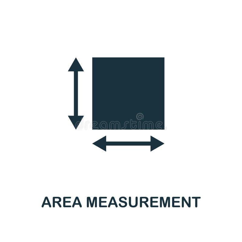 Bereichs-Maßikone Einfarbiger Artentwurf von der Maßikonensammlung UI und UX Bereichs-Maßikone des Pixels perfekte f stock abbildung