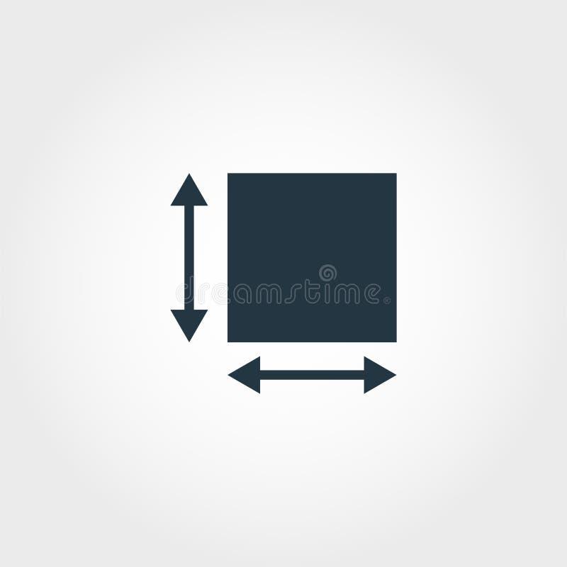 Bereichs-Maßikone von der Maßikonensammlung Kreative Elemententwurfsbereichs-Maßikone Webdesign, Apps stock abbildung