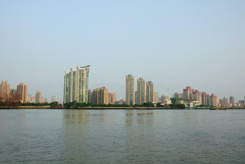 Bereichs-Shanghai-Wohnungen Pudongs neue lizenzfreie stockbilder