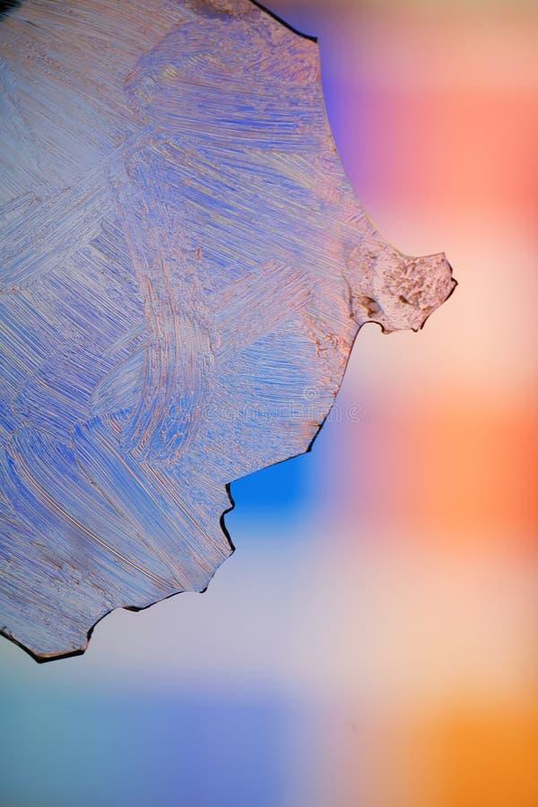 Bereiftes Glas mit Farben stockbilder