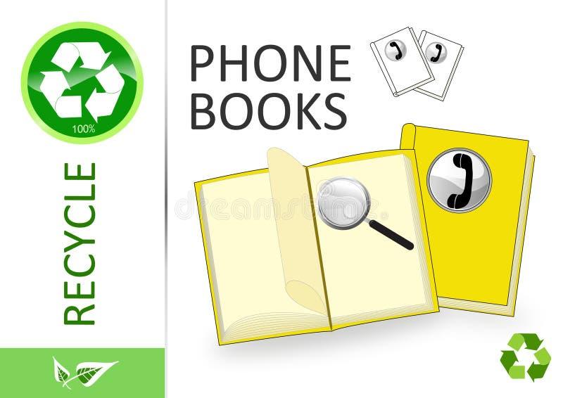 Bereiten Sie bitte Telefonbücher auf stock abbildung