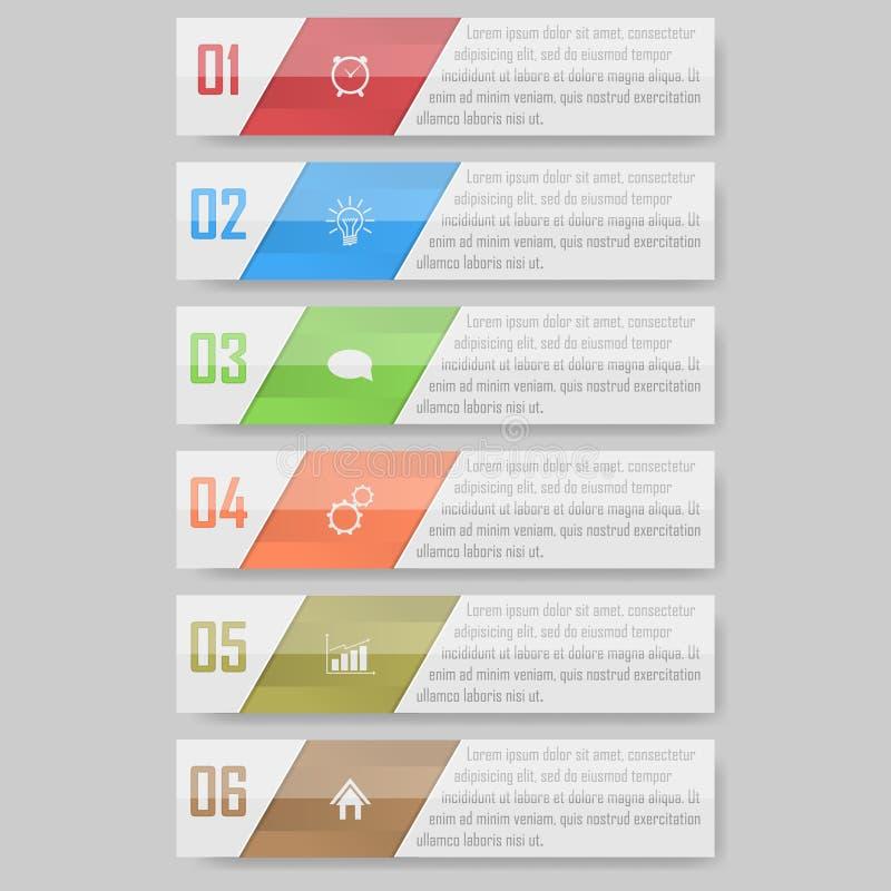 Bereiten Sie für Ihren Entwurf vor kann für Arbeitsflussplan, Diagramm verwendet werden, nummeriert optionsinfographic Vektorillu stockfoto