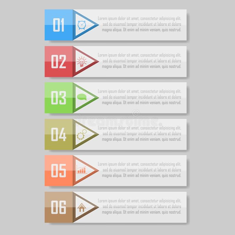Bereiten Sie für Ihren Entwurf vor kann für Arbeitsflussplan, Diagramm verwendet werden, nummeriert optionsinfographic Vektorillu lizenzfreies stockfoto