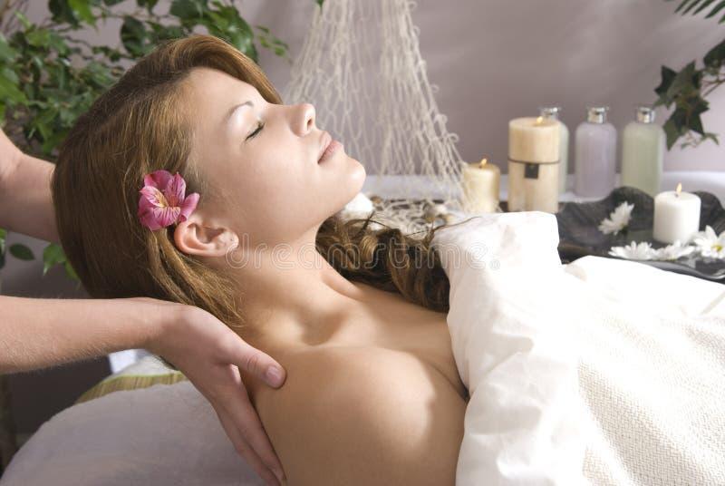Bereiten Sie für Massage vor lizenzfreie stockbilder