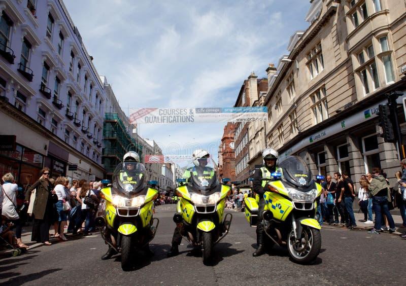 Bereiten Sie für Parade an Brighton-homosexuellem Stolz 2011 vor stockbilder