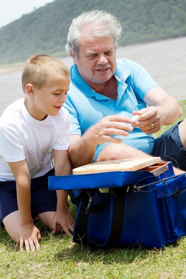 Bereiten Sie Fischereigeräte vor lizenzfreie stockfotografie