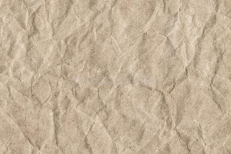 Bereiten Sie gestreifte Brown-Kraftpapier-Schmutz-Beschaffenheit - Detail auf stockbilder