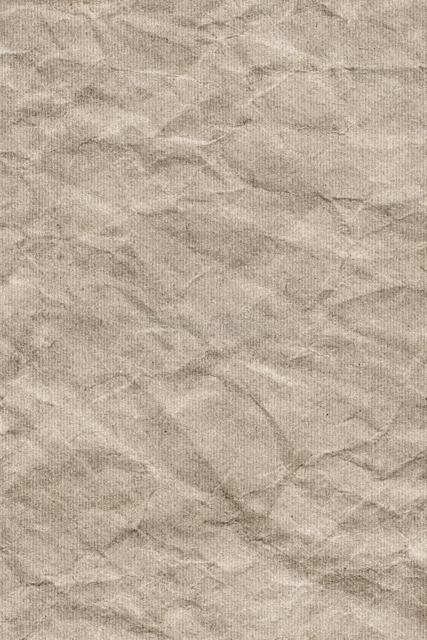 Bereiten Sie gestreifte Brown-Kraftpapier-Schmutz-Beschaffenheit - Detail auf lizenzfreie stockfotos
