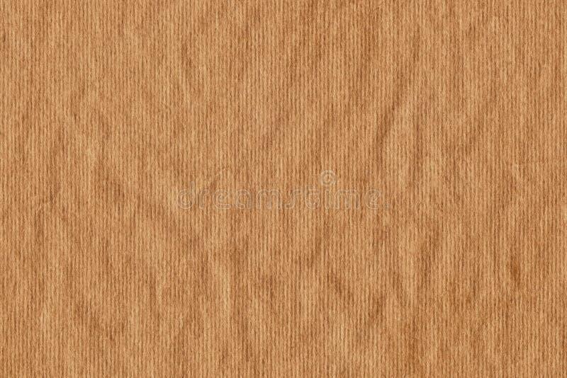 Bereiten Sie gestreifte Papier-Schmutz-Beschaffenheit Kraftpapiers Brown auf stockbild