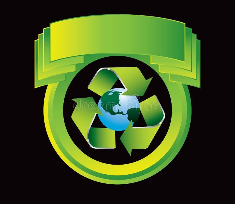 Bereiten Sie Planeten auf grünem Scheitel auf lizenzfreie abbildung