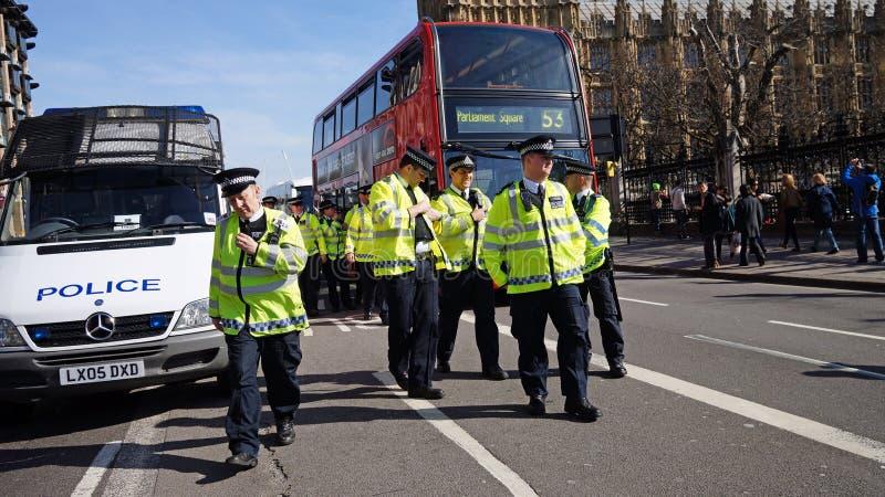 Bereitschaftspolizei in London, Vereinigtes Königreich stockfotografie