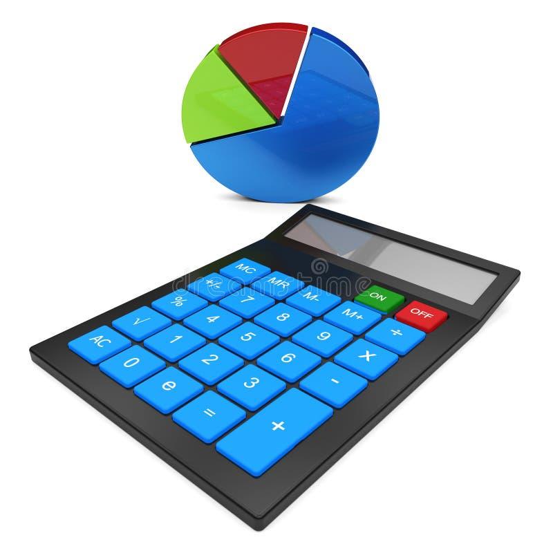 Bereken de Statistieken Berekende Gegevens en Statistisch toont stock illustratie