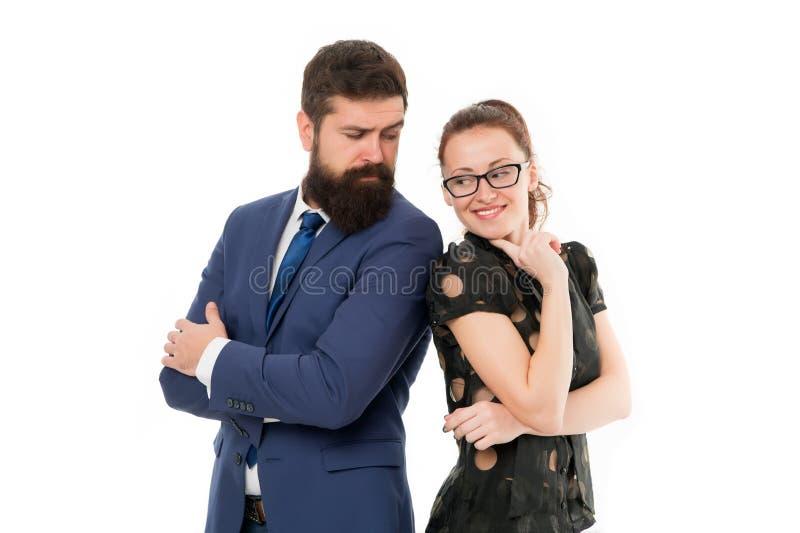 Bereken type van positie u werkelijk van zou genieten Collega's die nieuwe baan zoeken De man en de vrouw concurreren voor baan stock fotografie