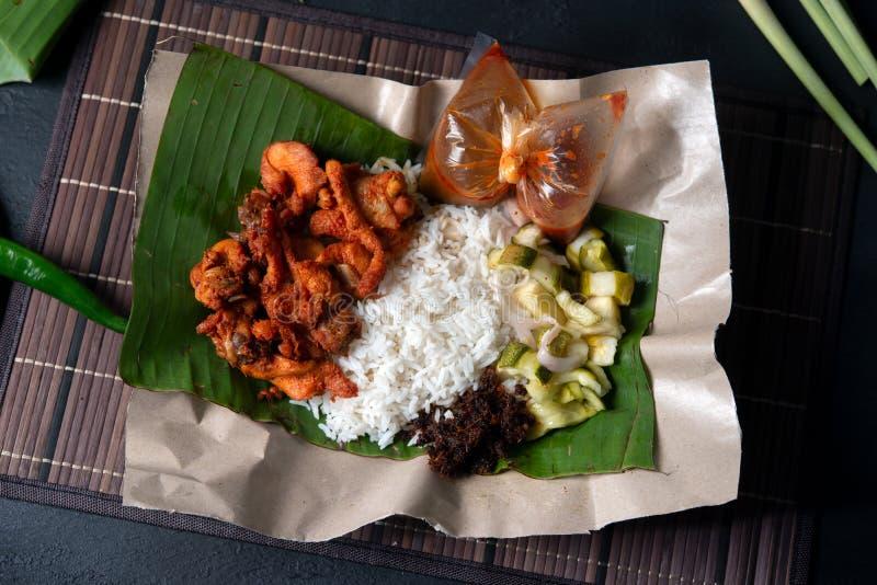 Berempah ayam kukus Nasi стоковые изображения rf