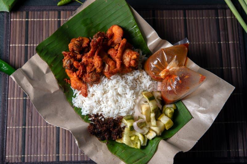Berempah ayam kukus Nasi стоковая фотография rf