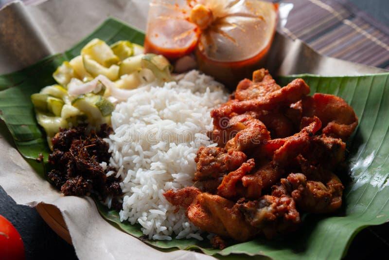 Berempah ayam kukus Nasi стоковое изображение rf