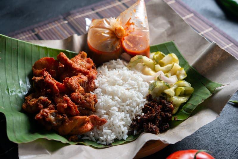 Berempah ayam kukus Nasi стоковые фото